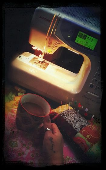 Taking a break from sewing a bit...i love my great sewing machine so much...all great works been created with this and it never gives me any fuss..^_^ ♡ Relaxing Sewing Machine My Handmade Things I Love