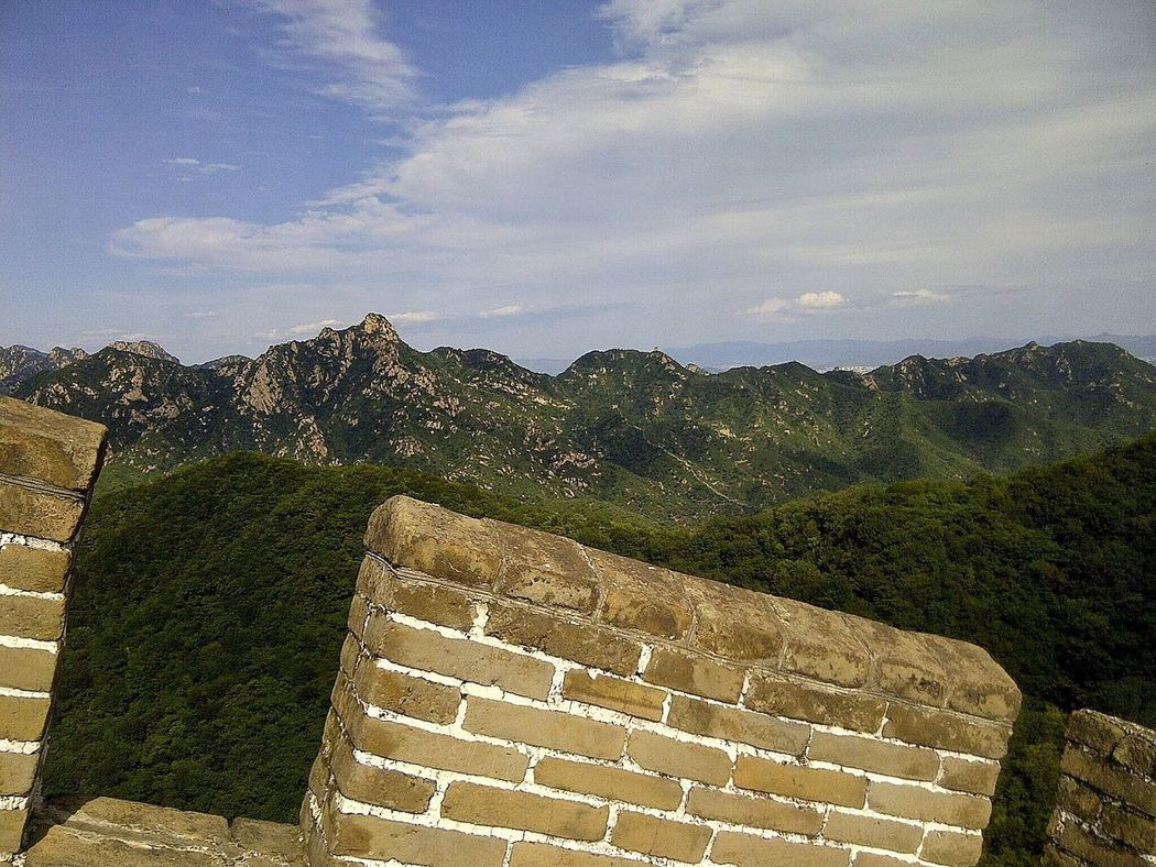 #FREIHEITBERLIN EyeEm Selects Built Structure Travel Destinations Thegreatwall Wall China Mutianyu Greatwallofchina ASIA History The Past Architecture Cloud - Sky Mountain Nature