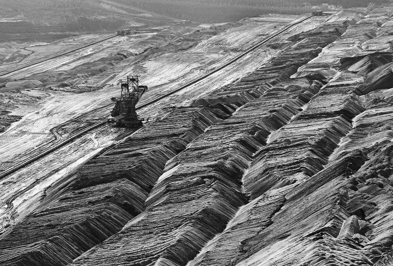 Landscape Outdoors Braunkohletagebau mining Mining Industry Mining Cole Black And White Black And White Photography Braunkohle