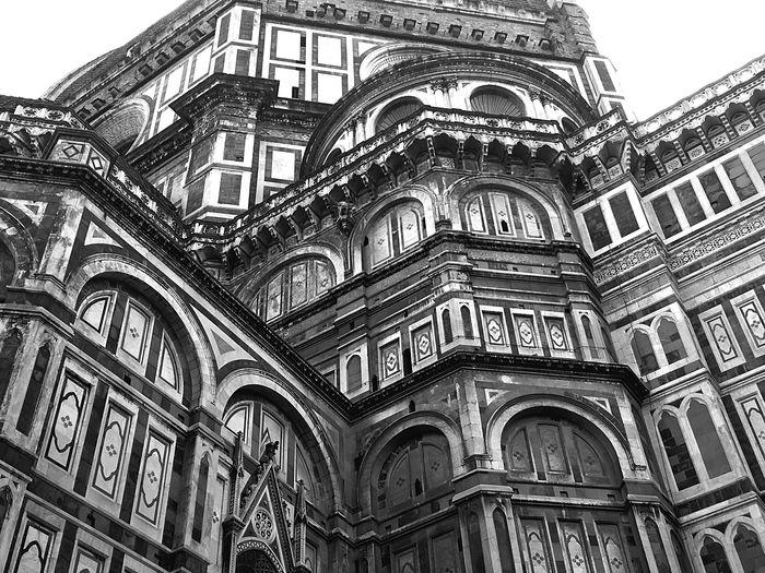 Architecture City Sky Spirituality Day History Outdoors Religion Exterior Florence Pattern Dome Arch No People Duomo Di Firenze Santa Maria Del Fiore Place Of Worship Travel Destinations Low Angle View Building Exterior Built Structure