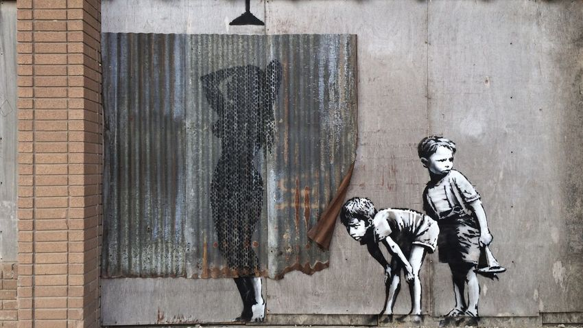 Banksy Streetphotography Street Photography Street Art Graffiti Art Dismaland not Disney Taking Photos Getting Inspired