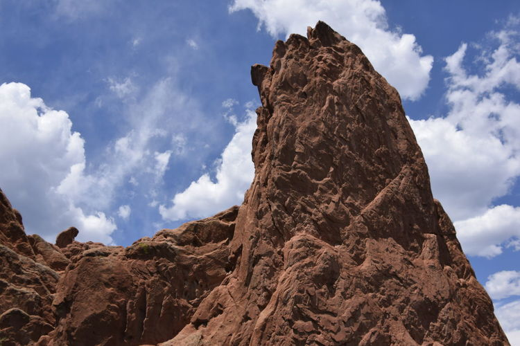 Active Lifestyle  Arid Climate Beauty In Nature Blue Sky Cloud - Sky Contrast With Sky Desktop Wallpaper Garden Of The Gods Geology High Contrast Landscape Nature No People Outdoors Physical Activity Physical Geography Red Rock Fin Red Rocks  Rock - Object Rock Formation Rock Outcropping Scenics Sky Textured  Tranquility EyeEmNewHere