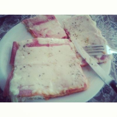 Gordices de hoje Pizza *--'*