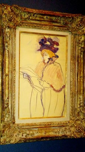 Toulouse Lautrec Painting On The Wall Art Gallery art museum nelson atkins 1850s Collection Impressionism Painted Image Arts Culture And Entertainment EyeEm Best Shots Female Likeness One Woman Only EyeEm Gallery Irwin Collection