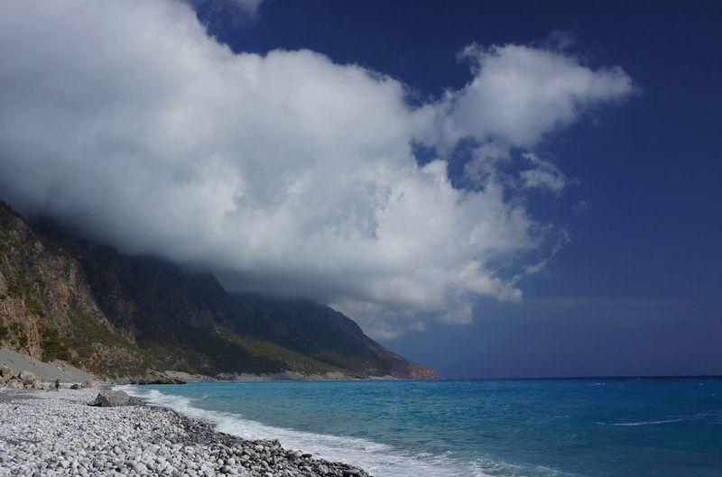 Dramatic Seascape With Clouds Over Coastline