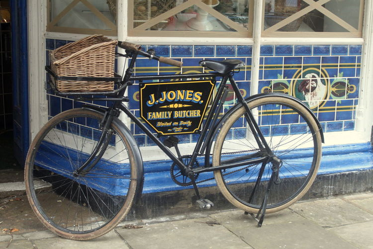 1940's Bicycle Bridlington Butcher Dads Army Home Guard Jones No People Old Town Stationary Walmington On Sea