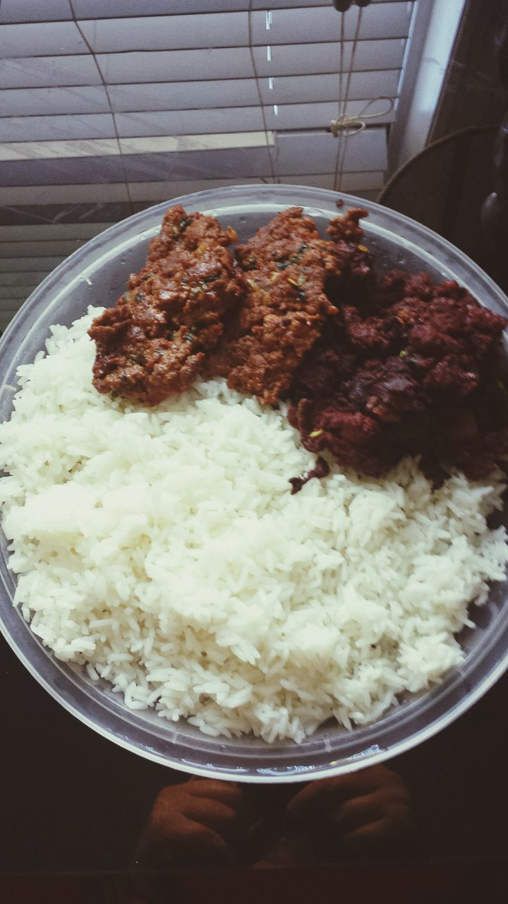 food and drink, food, indoors, high angle view, rice - food staple, rice, freshness, no people, bowl, mashed potatoes, ready-to-eat, close-up, healthy eating, day