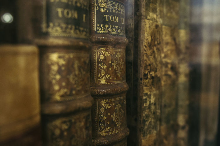 Old books on a