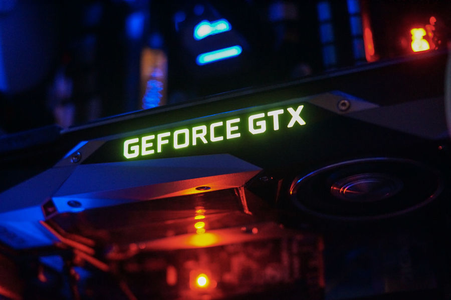 Nvidia's GeForce GTX 1080 - Performance Gaming Graphics Card GPU Mining GTX 1080 Gaming GeForce GTX Nvidia PC PC Gaming Video Games Bitcoin Bitcoin Miner Bitcoin Mining Close-up Computer Computer Part Crypto Mining Cryptocurrency Gpu Graphics Card Illuminated Mining Bitcoin Night No People Technology Text Video Card