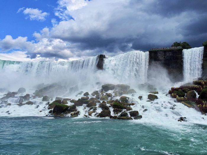 Falls Niagara Falls Beauty In Nature #cloud Blue Nature