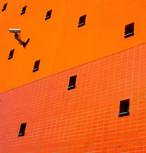 Low angle view of orange building