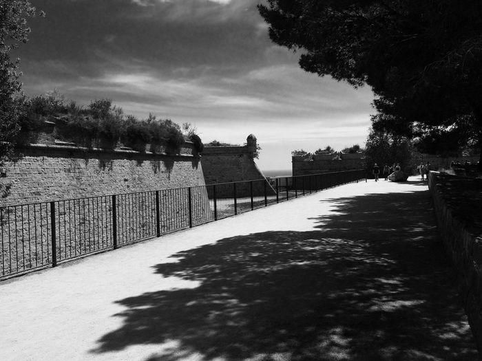 Blackandwhite Castle Barcelona