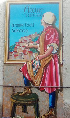 Peinture Murale Atelier Cordes-sûr-Ciel Tarn Mural Art Crafts