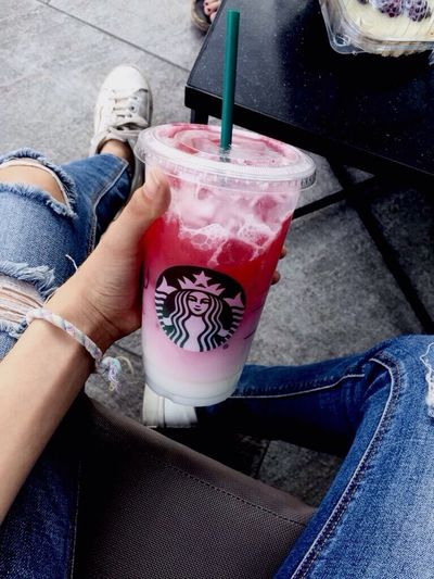 Pink Drink 👅 Lifestyles Shoe Jeans One Person Casual Clothing Drink Day Pink Drink Pink Cool