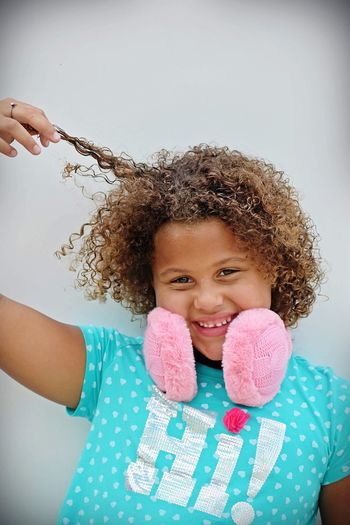 Posing Childhood Child Front View One Person Portrait Women Girls Waist Up Happiness Indoors  Smiling Leisure Activity Headshot Looking At Camera Enjoyment Real People Hairstyle Females Lifestyles Innocence