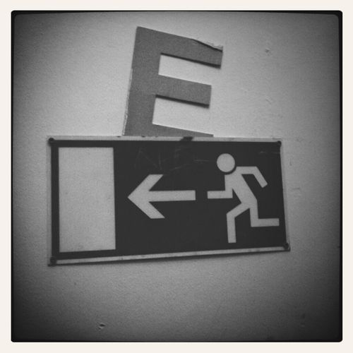 "Don't forgEt your ""E"" on thE way out."