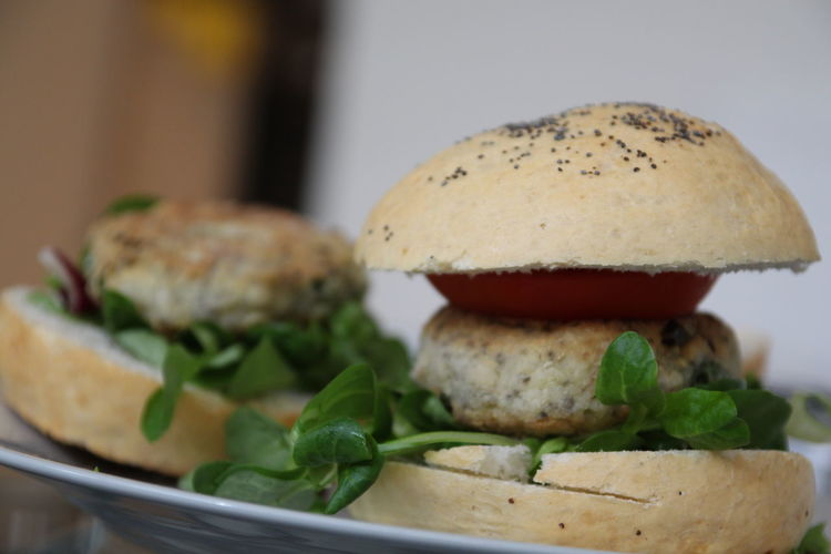 Bun Burger Close-up Food Homemade Homemade Food Meal Ready-to-eat Serving Size Temptation Tomato