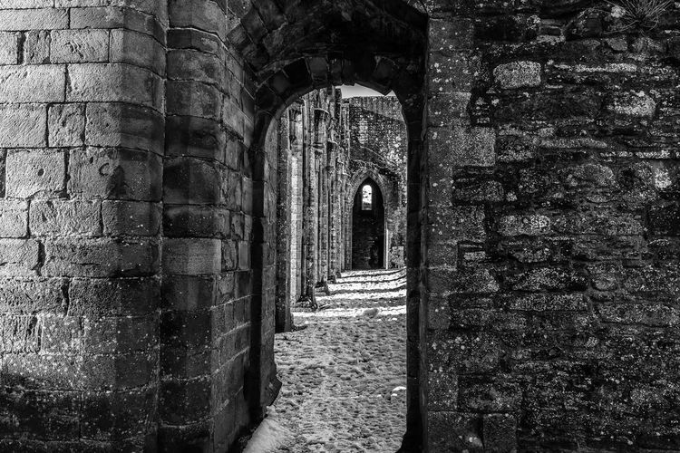 Llanthony Priory Wales Ancient Ancient Civilization Arch Architecture Built Structure Day History Indoors  Llanthony Priory Monochrome Monochrome Photography No People Old Ruin Priory