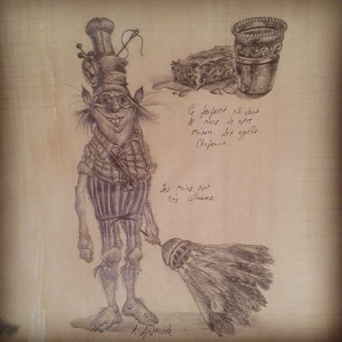 Thimbletack from The Spiderwick Chronicles Toniditerlizzi Thespiderwickchronicles Pencil Drawing artistresearch coffeestain art