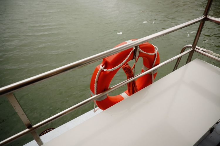 Water Railing Nautical Vessel Red Metal No People Lake Day Nature Safety High Angle View Mode Of Transportation Transportation Protection Security Outdoors Rope Architecture Rescue Rescue Ring Red Adriatic Sea Adria