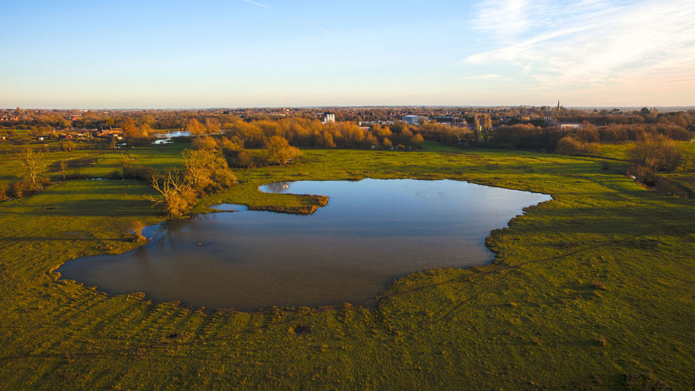 HDR landscaped in the countryside UK Aerial Photography Blue Sky Grass Green HDR Lake Landscapes Night Scape Night Sky Red Sun Tree Trees Yellow