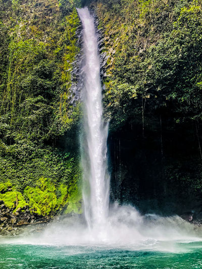 The waterfall at La Fortuna, Costa Rica Water Motion Beauty In Nature Scenics - Nature Waterfall Nature Power No People Day Splashing Outdoors Environment Flowing Water Falling Water Costa Rica 🇨🇷 Rainforest Forest
