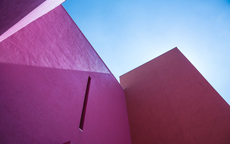 Architectural Detail Architecture Architecture Architecture Photography Architecture_collection Barragán Barragán Blue Built Structure Close-up Day High Section Low Angle View Magenta Mexico Modern Monterrey No People Outdoors Part Of Pink Color Purple Red Sky Sunny