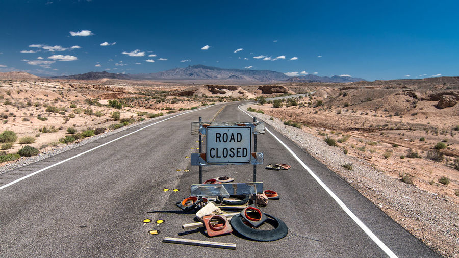 View of road closed sign