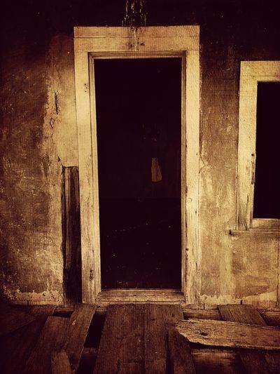 """""""Once Upon A Time In Cedarvale No. 9"""" At your own risk. New Mexico Photography New Mexico Old Buildings Mystery Abandoned & Derelict Abandoned Buildings Abandoned Places Abandoned Built Structure Architecture No People Building Building Exterior Entrance Window Doorway"""