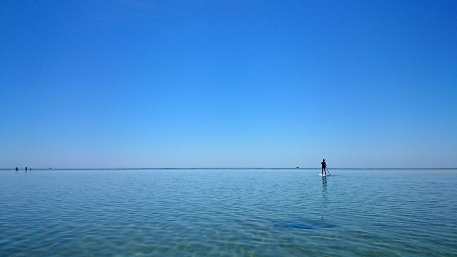 Good fun paddleboarding Horizon Over Water Clear Sky Waterfront Beauty In Nature Ocean Water Blue Tranquility Sea Dunsborough