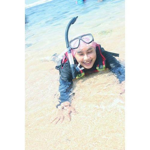 Dipantai kok sempet tidur 😪 pantai Sundak Gunungkidul Pasirputih Snorkeling Canon