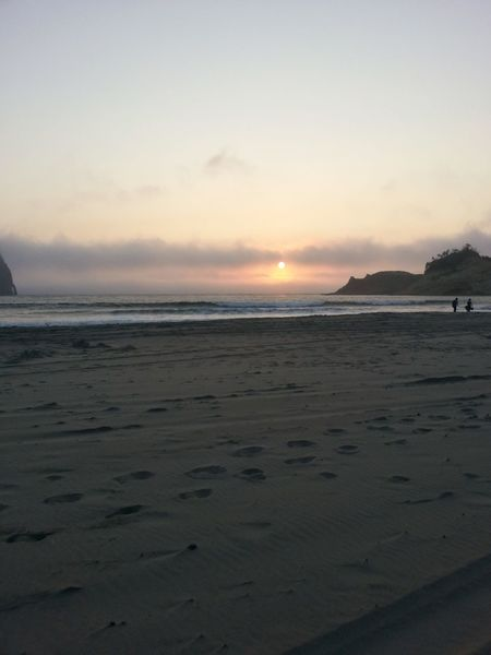 Sea Beach Sunset Sky Horizon Over Water Sand Nature Tranquility Wave Tranquil Scene Scenics Beauty In Nature Water Cloud - Sky Outdoors Travel Destinations No People Day Dramatic Sky Beauty In Nature Oregon Canon Beach Tranquility Oregon Coast Nature