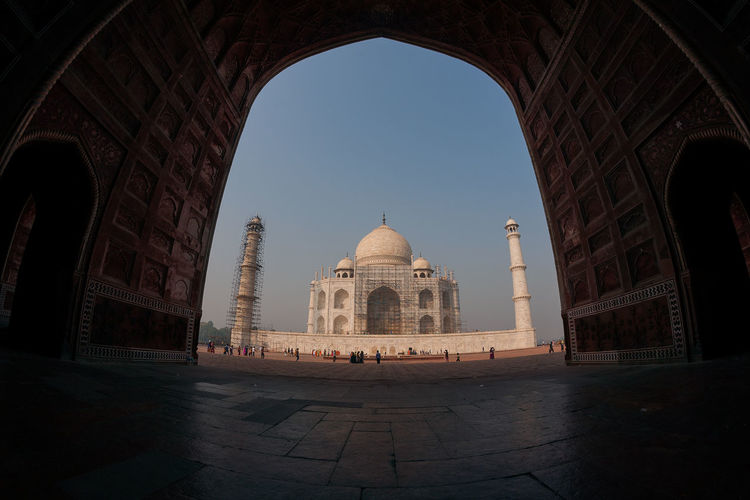 View Of Taj Mahal Against Clear Sky