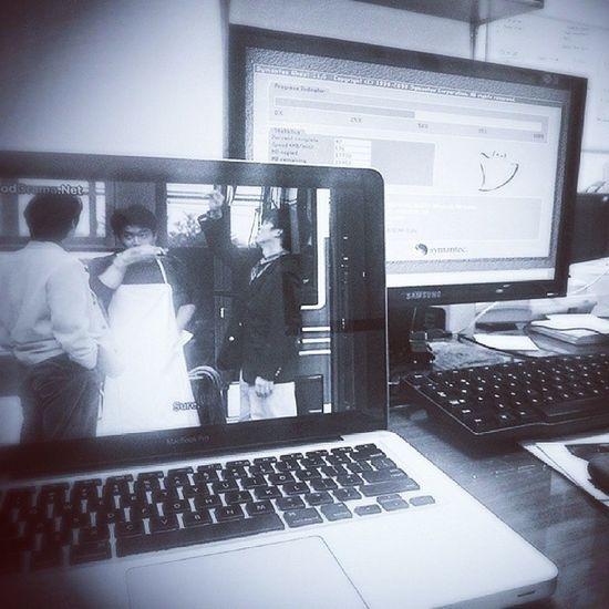 My desk Waiting Watching Ordinarypeople Desk desk computer desktop it insta instagram instag office jaken salemb jakarta jakcity indo indonesia