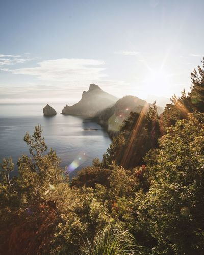 sunrise at Cap de Formentor Sonyalpha Landscape_Collection Landscape Outdoors Mallorca Landscape_photography Sunrays Ocean Roamtheplanet EyeEm Selects Landscape Mountain Sunlight Nature Scenics Outdoors Beauty In Nature Sea Sky Water
