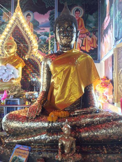 Statue of illuminated temple