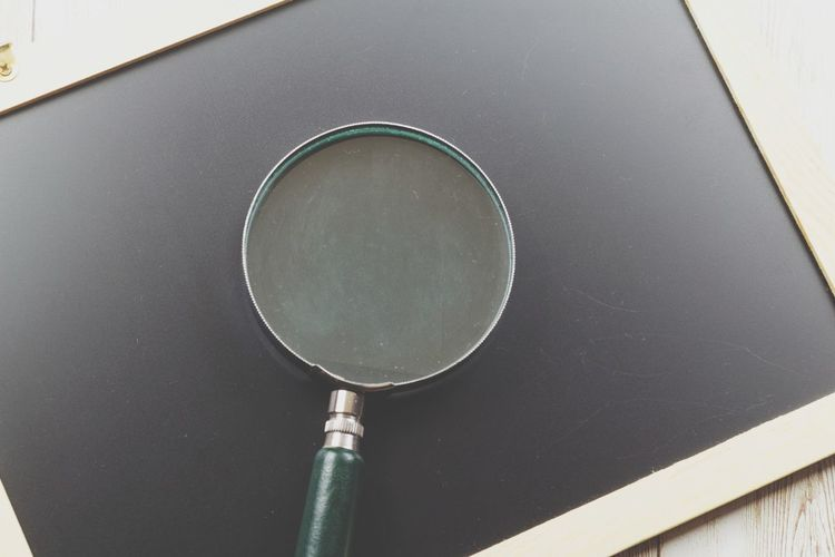 Magnifying glass on chalkboard Blackboard  Chalkboard Board Magnifying Glass Copy Space Copyspace Background Sport Close-up Magnification