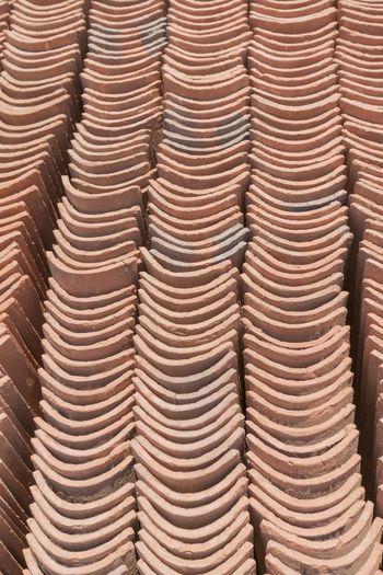 Full frame shot of roof tile