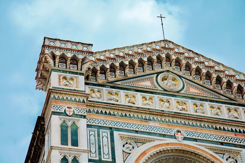 Florence Low Angle View Architecture Built Structure Building Exterior Sky Building Religion No People Place Of Worship Belief Arch Spirituality Day Outdoors Nature Travel Destinations Pattern Cloud - Sky History The Past