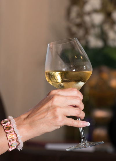 Photo of a woman's hand holding a glass of wine. Toasting Wine moments Adult Alcohol Bracelet Celebration Cheers Drink Finger Focus On Foreground Food And Drink Glass Hand Holding Human Body Part Human Hand Lifestyles One Person Real People Refreshment Wine Wineglass Women