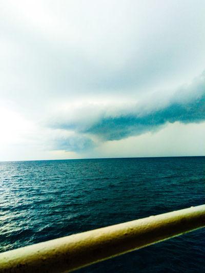 Water Sea Rippled Sky Horizon Over Water Cloud - Sky Dramatic Sky Storm Cloud Rushing Coast Sky Only Atmospheric Mood