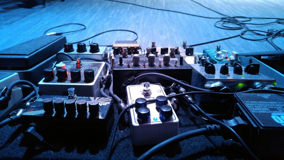 Concert Stage Show Music Stage Gear Musician Wires Pedals Rockshow  Montreal Rocks Pedal Train Technology
