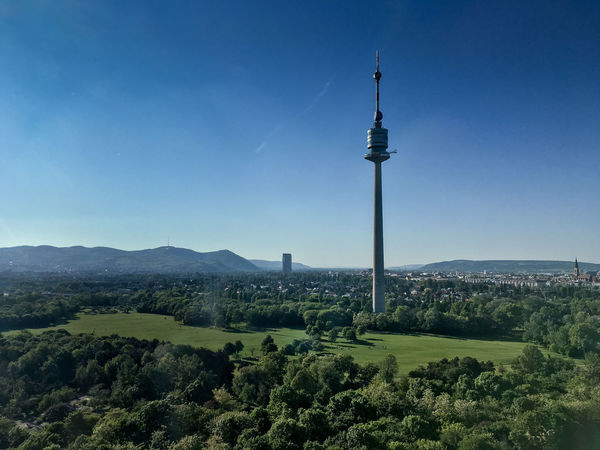 Austria Danube Tower Vienna Architecture Beauty In Nature Blue Day Donauturm Landscape Mountain Nature No People Outdoors Scenics Sky Tree