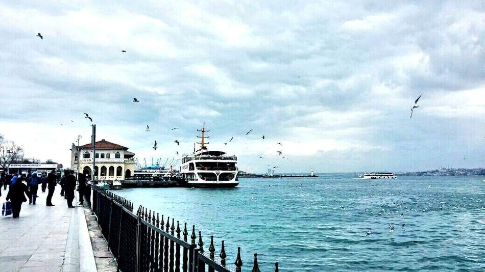 Steamship People Istanbul TurkiyeKadikoy Sea Skyandclouds  Popular Photos Silhouette EyeEm Landscape