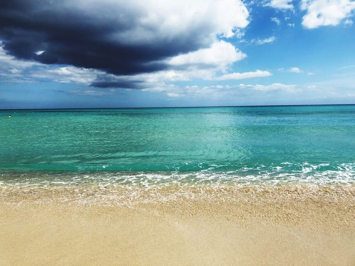 Cloud over the sea Water Cloud - Sky Sea Sky Land Beach Beauty In Nature Tranquility Scenics - Nature Turquoise Colored Outdoors Day EyeEmNewHere
