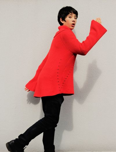 OK Last One! One Person Wall - Building Feature Red Standing Young Adult Androgynous Young Women Young Man Three Quarter Length Side View Fashion Sweater Surprise Happiness Positivity Bright Bright Colors Asian  Asian Model Women Action Forward Determination Open Mouth Clothing International Women's Day 2019 17.62° My Best Photo Moms & Dads