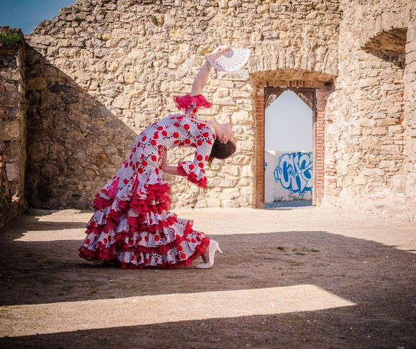 Andalucía Flamenco Spanish Woman Adult Architecture Building Exterior Built Structure Day Entrance Full Length One Person Outdoors People Real People Shadow