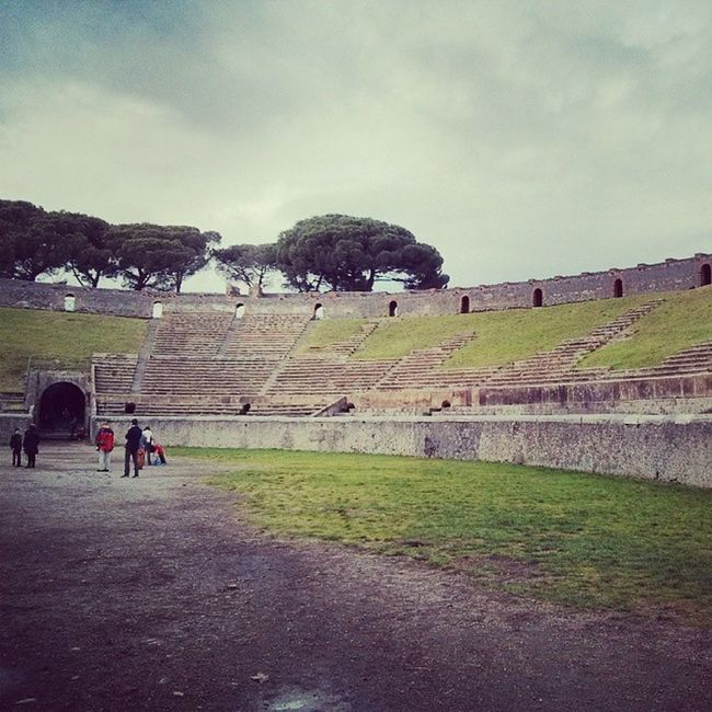Pink Floyd was here! Pompeii  Pompéi Coliseum Pinkfloyd Italia Italy Ruins Romanruins Pompeiscavi