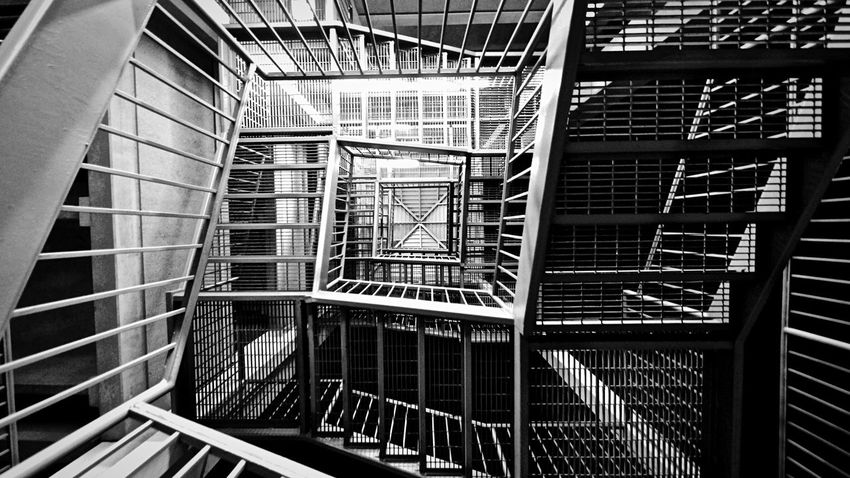 Johnleephotography Staircase AngleUp 10-24mmWideAngle City Monochrome Virginia Insomniac_collection InsomniART Insomnia Insomniacs Empty Places Parking Garage