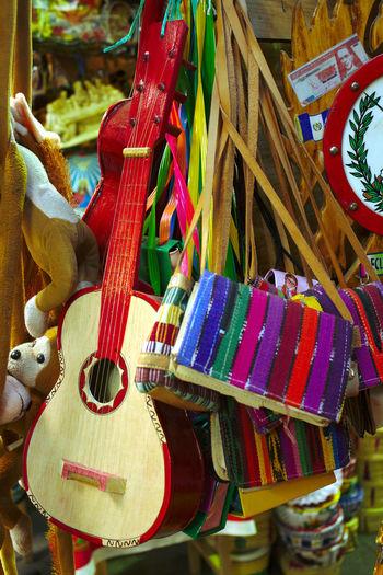 Bazaar Bright Colors Colorful Colour Craft Culture Esquipulas Exotic Feb2010 Guitar Handbag  Handicraft Handiwork Handmade Mayan Orange Still Life Street Photography Toy Guitar Toys Travel Travel Destinations Urban Exploration Western Guatemala Yellow